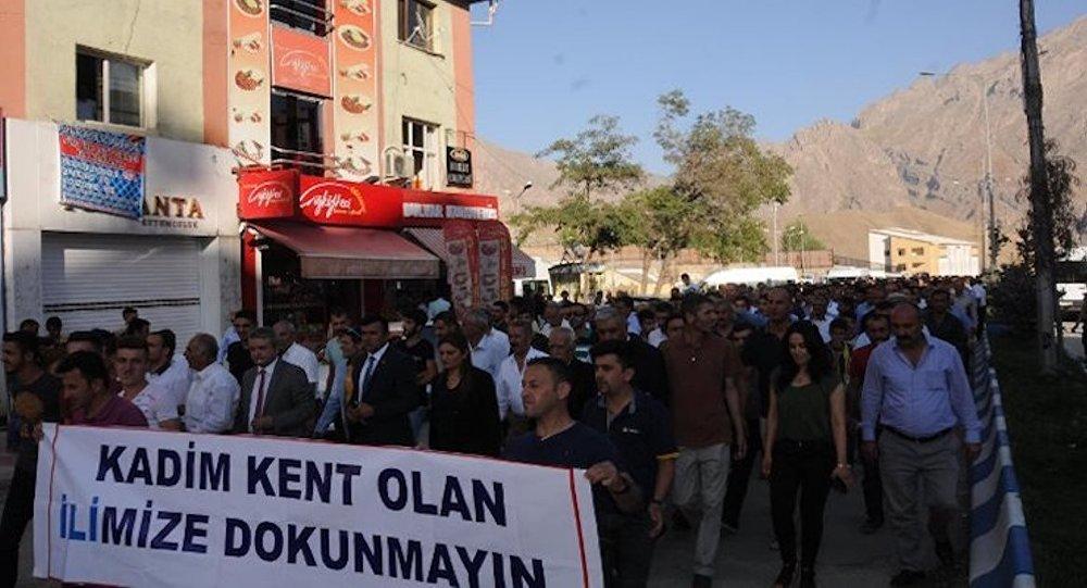 Hakkari protesto