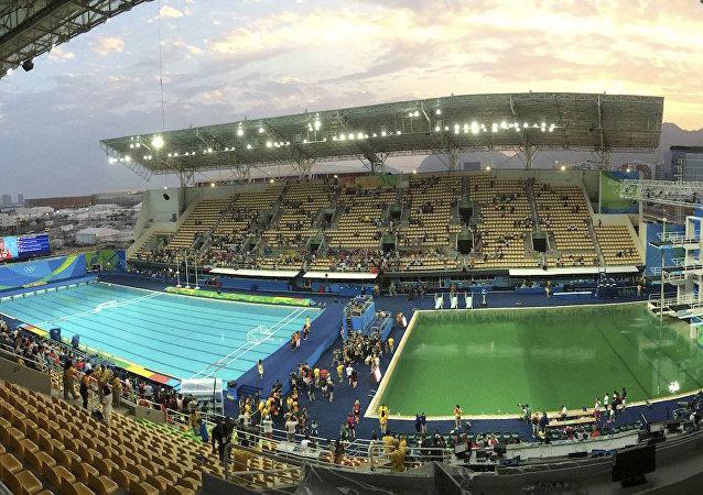 Maria Lenk Aquatics Centre'daki atlama havuzu