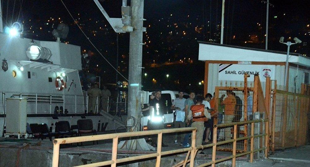 Sahil Güvenlik gemisine operasyon
