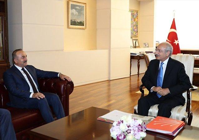 Dışişleri Bakanı Mevlüt Çavuşoğlu - CHP Genel Başkanı Kemal Kılıçdaroğlu