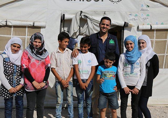 Suriyeli çocuklar gelecekte gazeteci olmak istiyor