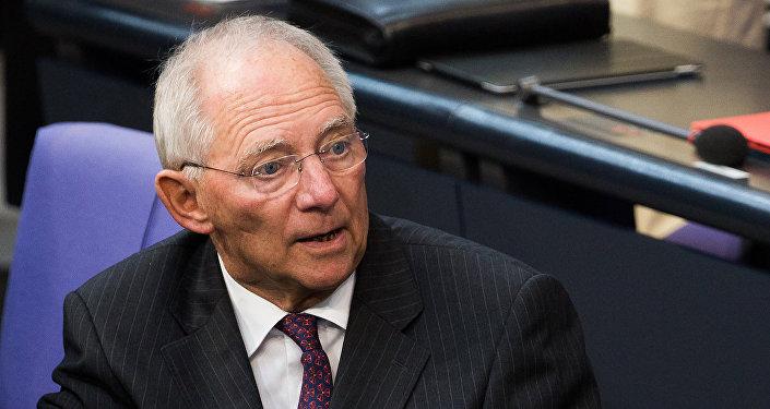 Almanya Maliye Bakanı Wolfgang Schaeuble