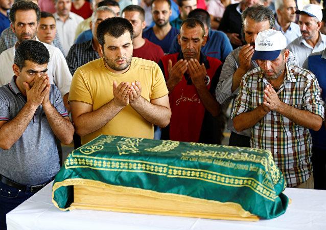 Gaziantep saldırısında hayatını kaybeden 3 aylık Şehriban Nurbay'ın cenaze töreni