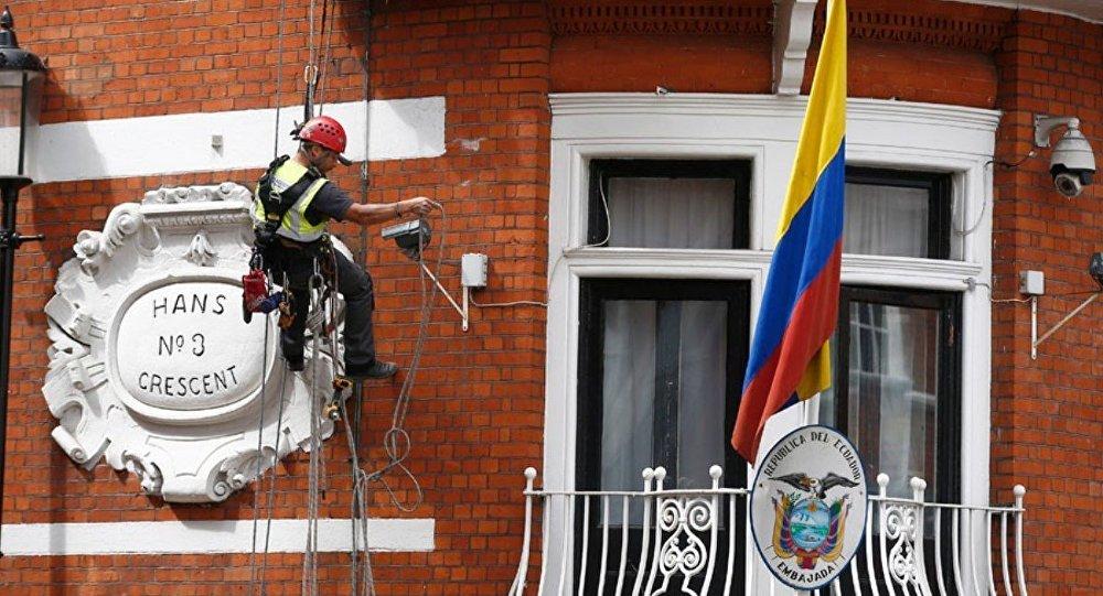 Julian Assange'ın kaldığı Londra'daki Ekvador Büyükelçiliği