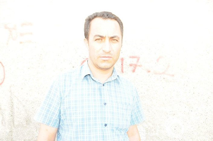 Gaziantep'teki IŞİD saldırısında eşi ve çocuğunu kaybeden Abdulaziz Yağız.