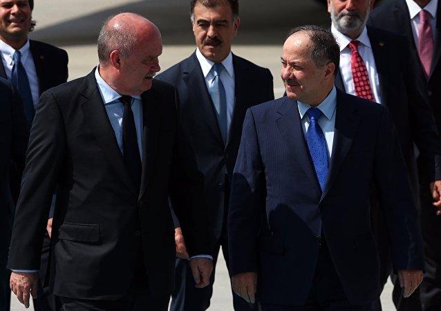 Mesud Barzani - Feridun Sinirlioğlu