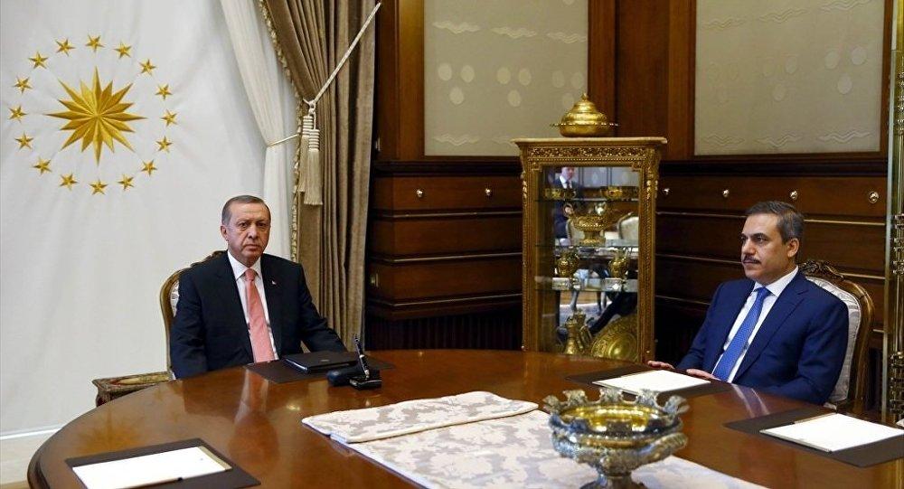 Cumhurbaşkanı Recep Tayyip Erdoğan - MİT Müsteşarı Hakan Fidan