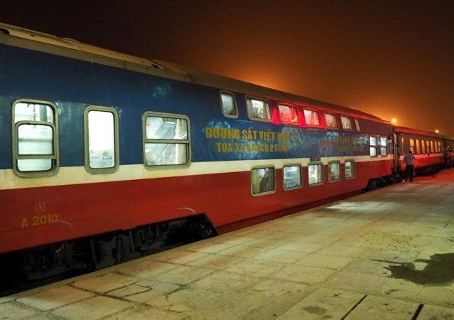 Vietnam'da Hanoi tren istasyonu