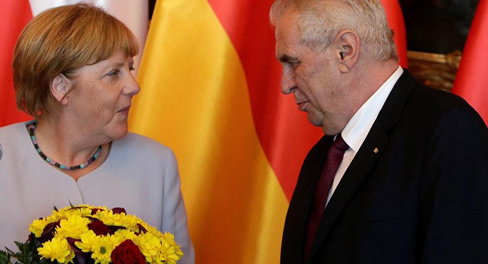 Angela Merkel - Miloş Zeman