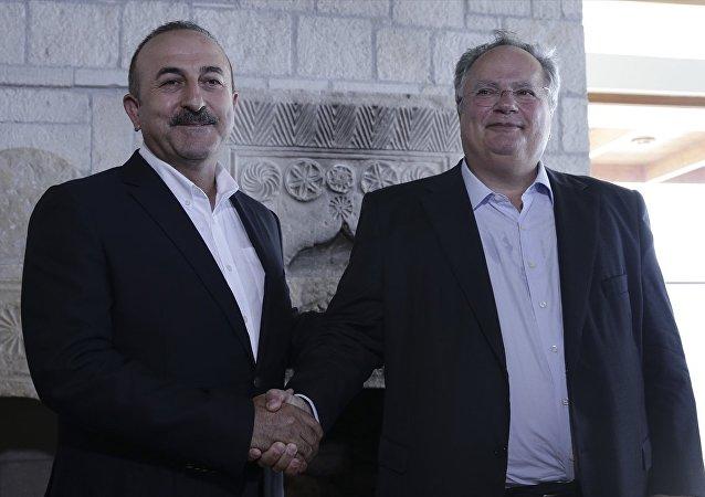 Dışişleri Bakanı Mevlüt Çavuşoğlu ve Yunan Mevkidaşı Nikos Kocyas