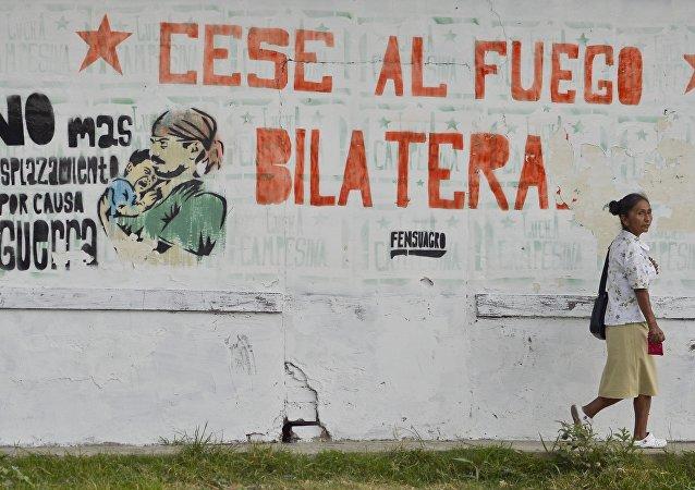 Kolombiya'dan bir duvar yazısı: Çift taraflı ateşkes