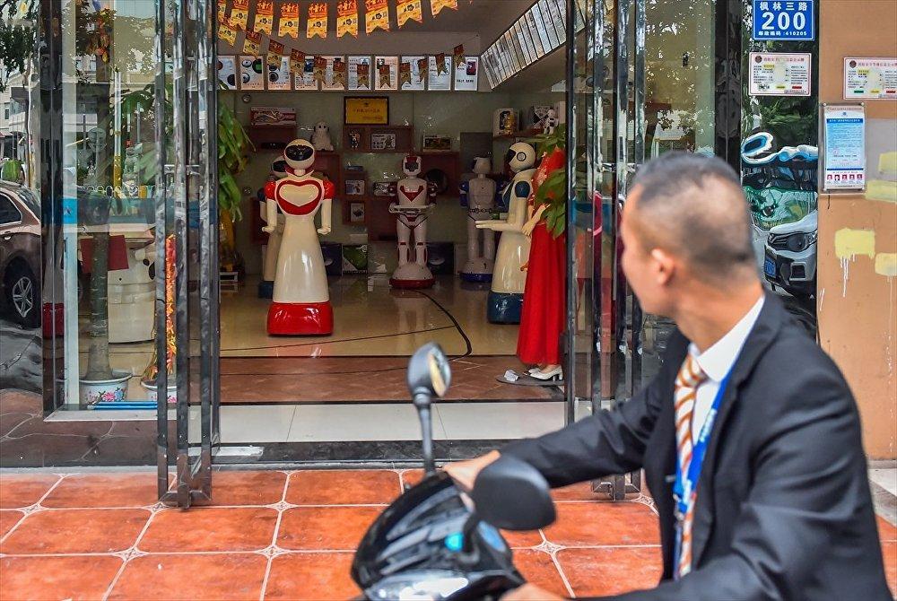 Çin'deki robot mağazası