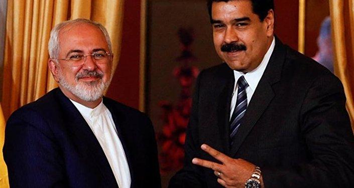 İran Dışişleri Bakanı Cevad Zarif ve Vezuela Devlet Başkanı Nicolas Maduro