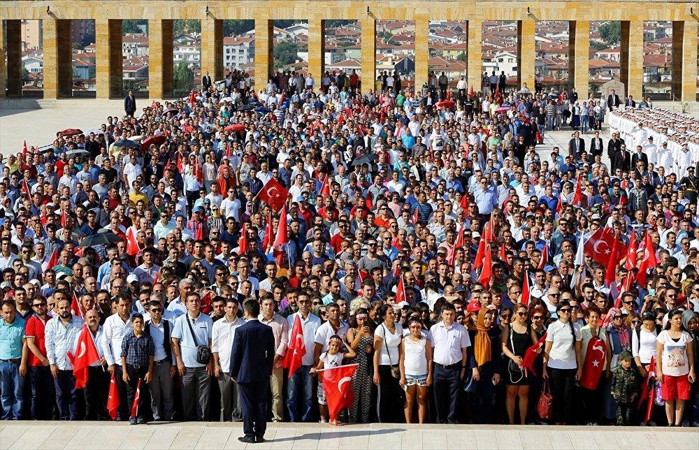 Törene vatandaşlar da yoğun katılım gösterdi.