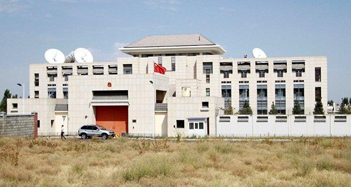 Kırgızistan'ın başkenti Bişkek'teki Çin Büyükelçiliği
