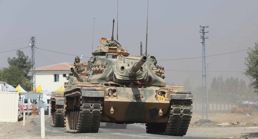 Fırat Kalkanı Operasyonu kapsamında kullanılan Türk tankı