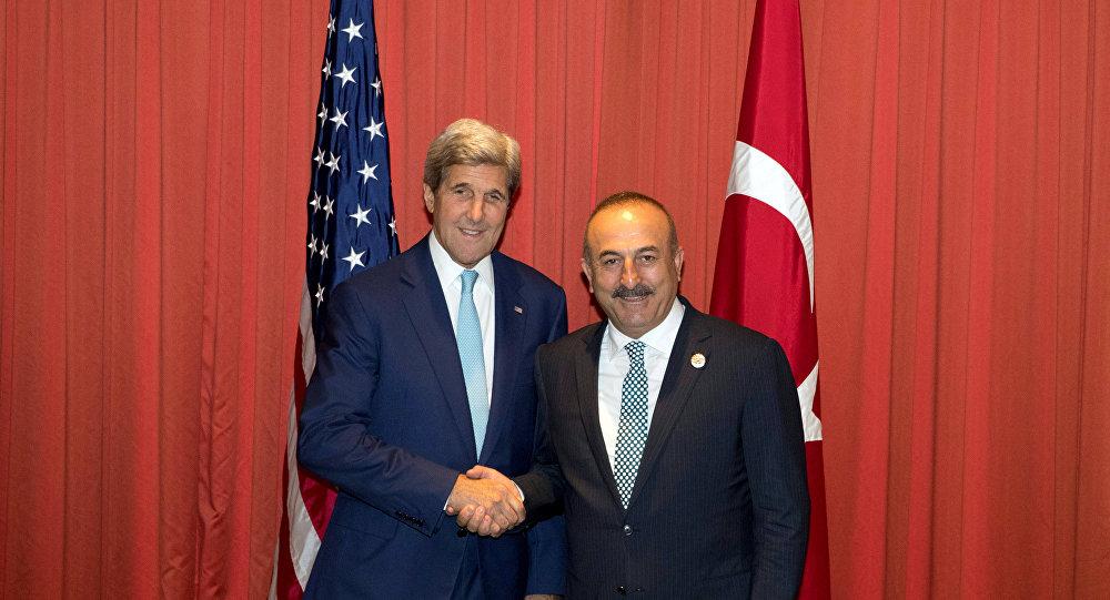ABD Dışişleri Bakanı John Kerry- Türkiye Dışişleri Bakanı Mevlüt Çavuşoğlu