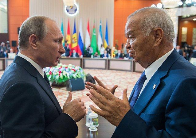 Rusya Devlet Başkanı Vladimir Putin- Eski Özbekistan Devlet Başkanı İslam Kerimov