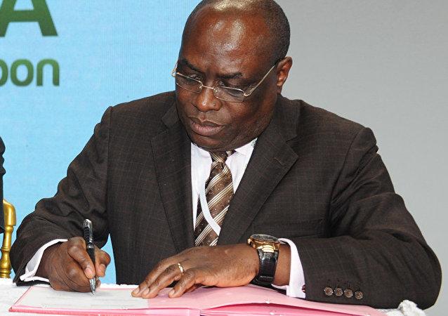 Eski Gabon Adalet Bakanı Seraphin Moundounga