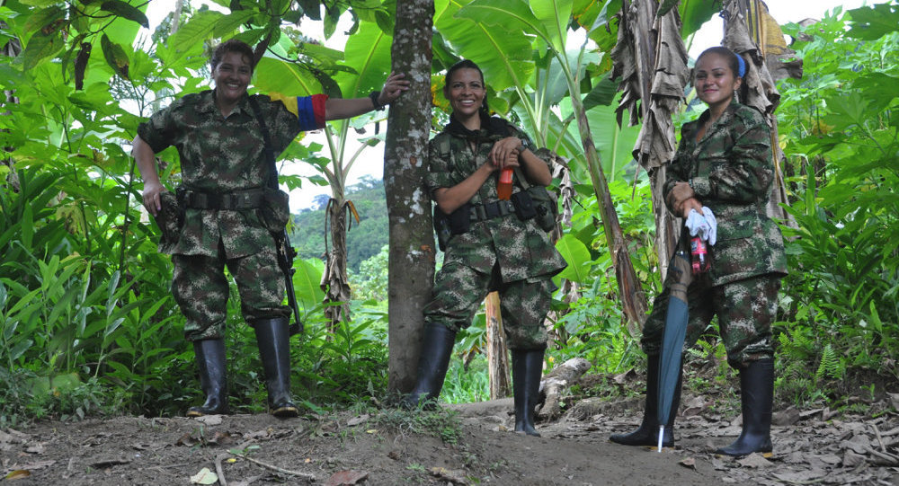 Kolombiya Devrimci Silahlı Güçleri (FARC) kampı