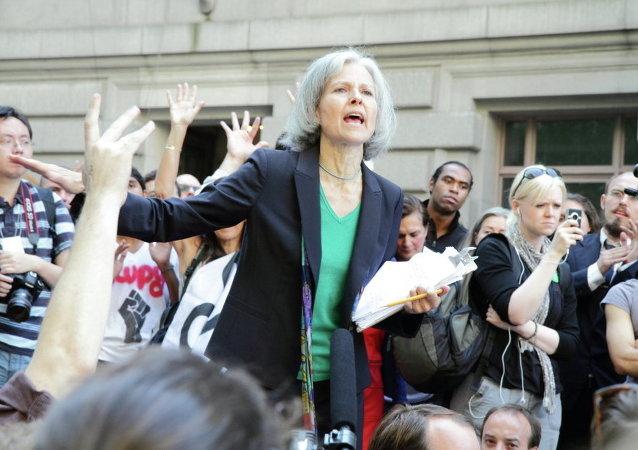ABD'de Yeşil Parti başkan adayı Jill Stein, 2011'de Occupy Wall Street eyleminde