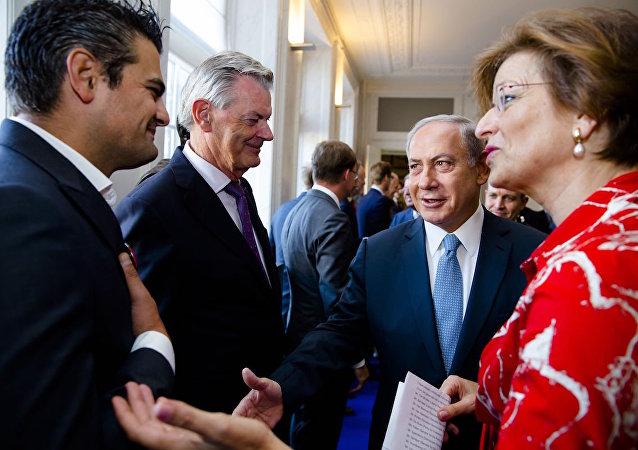 Türk asıllı Hollandalı milletvekili Tunahan Kuzu, İsrail Başbakanı Binyamin Netanyahu'nun elini sıkmadı.