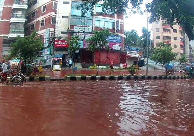 Dakka sokakları Kurban Bayramı'nda kırmızıya büründü