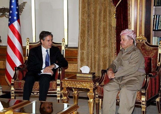 ABD Dışişleri Bakan Yardımcısı Tony Blinken ve IKBY Başkanı Mesut Barzani