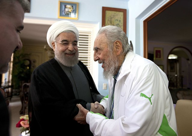 Hasan Ruhani - Fidel Castro