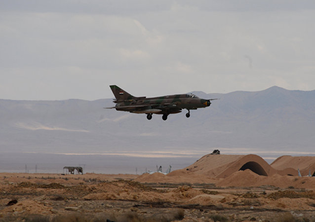 An aircraft of the Syrian Arab Army (SAA) Air Force