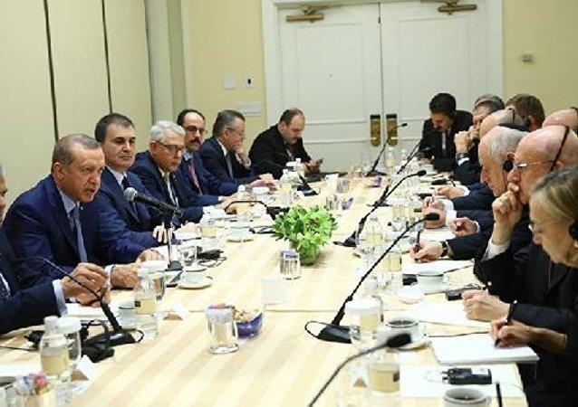 Cumhurbaşkanı Recep Tayyip Erdoğan, ABD'deki Yahudi kuruluşların temsilcileriyle