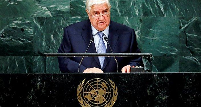 Suriye Dışişleri Bakanı Velid Muallim BM Genel Kurulu'na seslendi