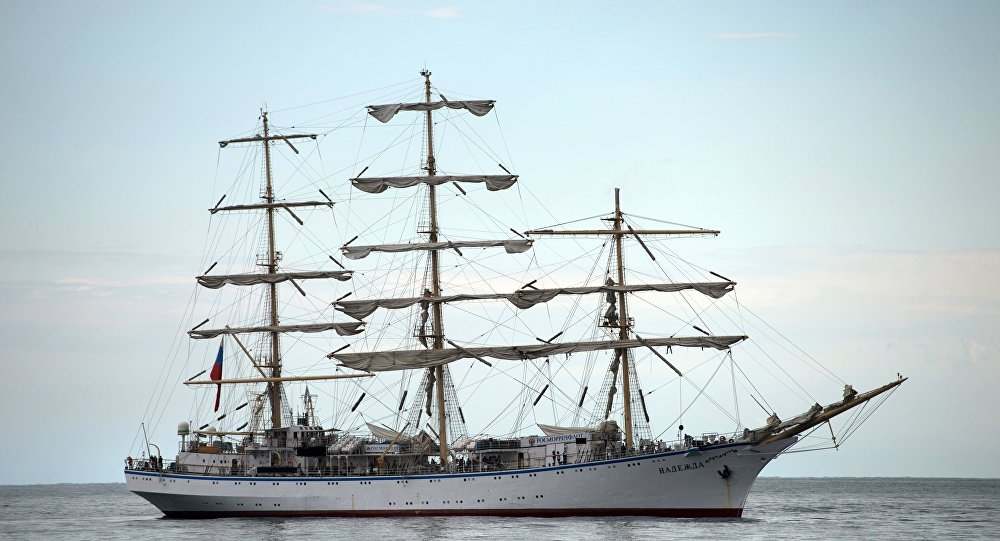Putin'in hamisi olduğu Rus yelkenlisi Nadejda