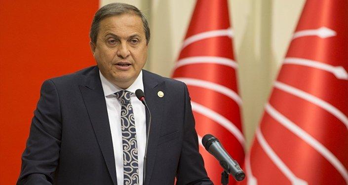 CHP Genel Başkan Yardımcısı Seyit Torun, parti genel merkezinde basın toplantısı düzenledi.