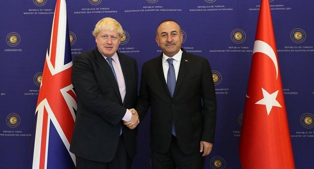 Dışişleri Bakanı Mevlüt Çavuşoğlu ve İngiltere Dışişleri Bakanı Boris Johnson