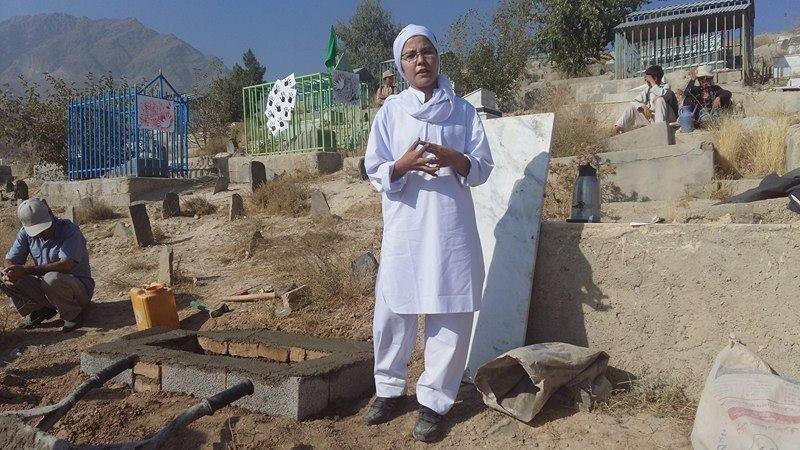 Fehime Muhammedi, kendi cenazesinin provalarında.