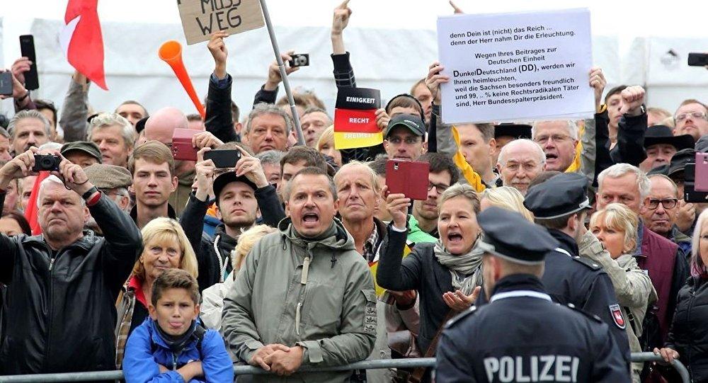 Almanya Dresden Protestolar
