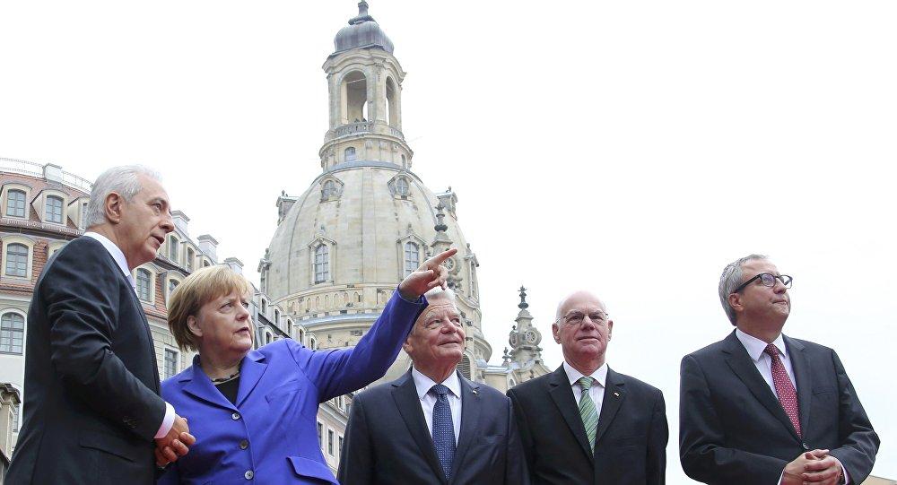 Stanislaw Tillich, Angela Merkel, Joachim Gauck, Norbert Lammert ve Andreas Vosskuhle