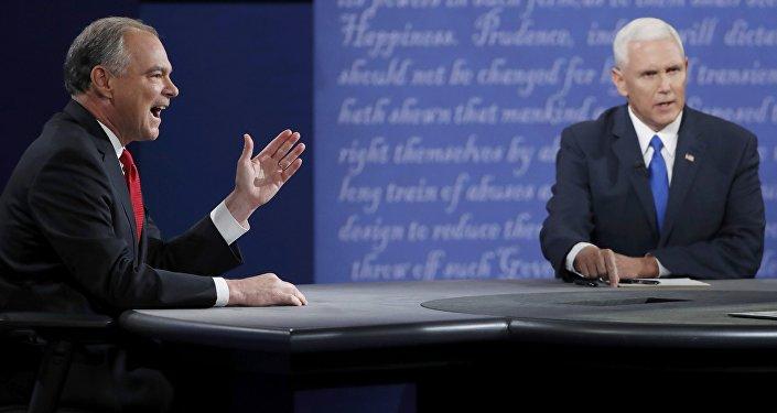 ABD'de başkan yardımcısı adayları Tim Kaine ve Mike Pence