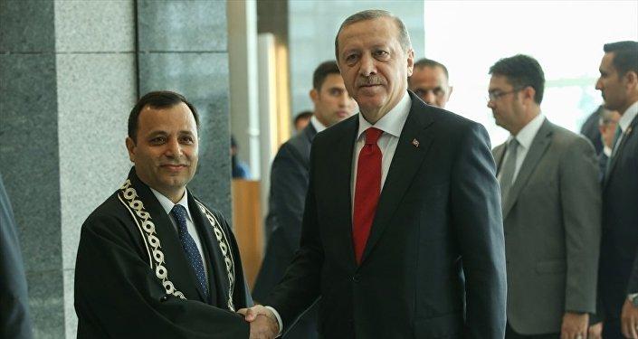 AYM Başkanı Zühtü Arslan-Cumhurbaşkanı Recep Tayyip Erdoğan