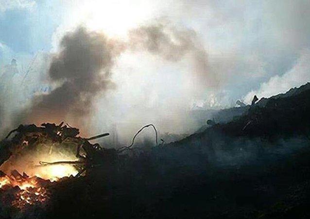 İsrail ordusuna ait F-16 savaş uçağı düştü