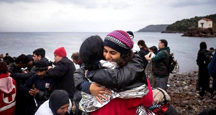 Gabriela Shapazian, Yunanistan'daki sığınmacı kampında