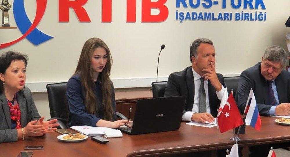 Rus-Türk İşadamları Birliği (RTİB) Moskova ofisinde  toplantısı