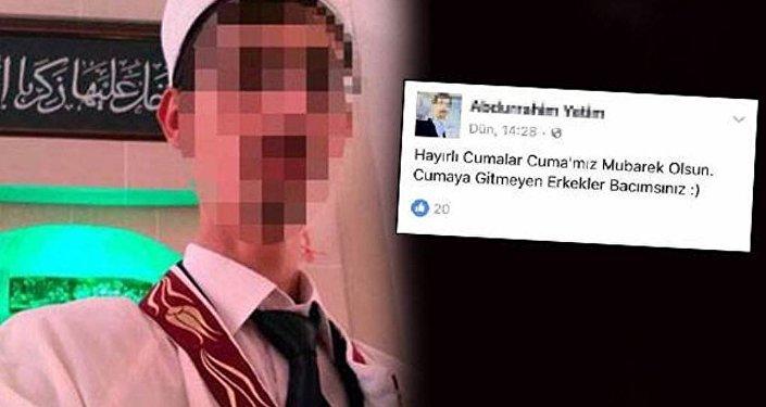 Çanakkale'nin Bayramiç ilçesinde sosyal medya hesabından Cumaya gitmeyen erkekler bacımsınız paylaşımında bulunan imam açığa alındı