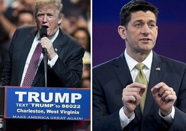 Donald Trump ve ABD temsilciler Meclisi Başkanı Paul Ryan