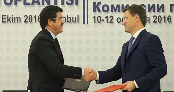 Rusya Enerji Bakanı Aleksandr Novak-Türkiye Ekonomi Bakanı Nihat Zeybekci