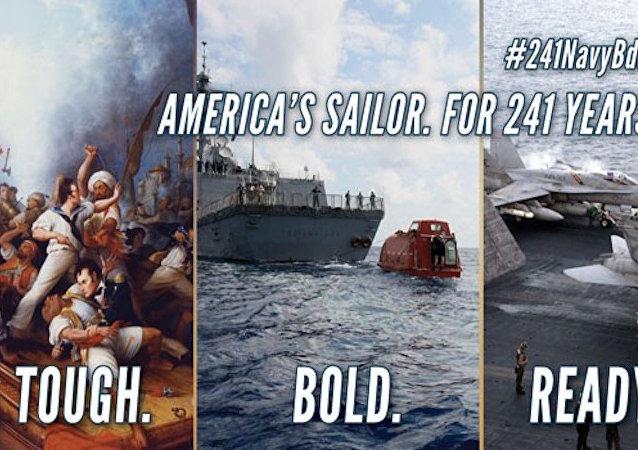 ABD Donanması'nın doğum günü paylaşımı