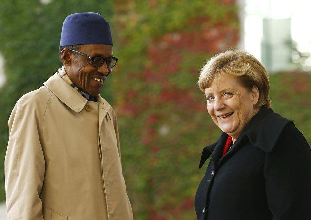Nijerya Devlet Başkanı Muhammed Buhari- Almanya Başbakanı Angela Merkel