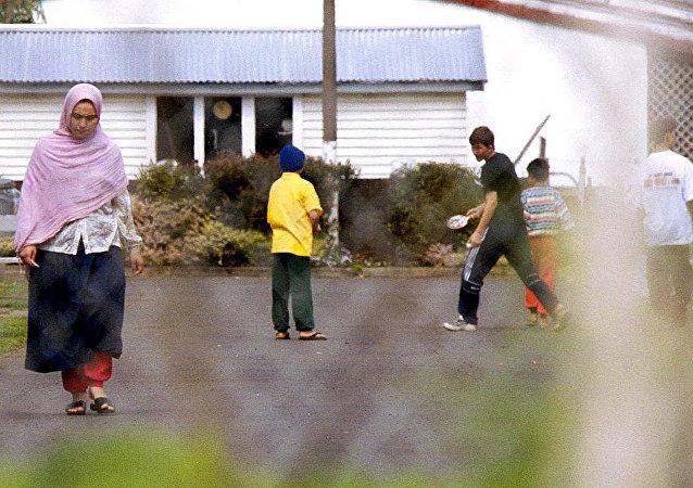 Avustralya'nın Auckland kentindeki sığınmacı kampı.