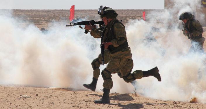 Rus askeri yetkilileri  Mısır meslektaşlarına Rusya Hava İndirme Birliklerinin paraşüt bölüğünde görev yapan askerleri hazırlama yöntemini gösterip yerleşim merkezinde eğitim çatışma gösterisini yaptılar.